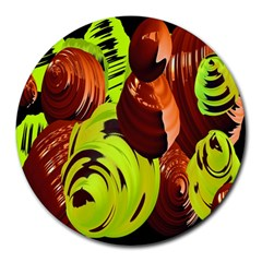 Neutral Abstract Picture Sweet Shit Confectioner Round Mousepads