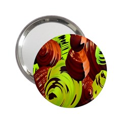 Neutral Abstract Picture Sweet Shit Confectioner 2.25  Handbag Mirrors
