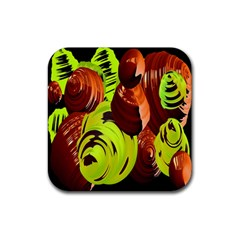 Neutral Abstract Picture Sweet Shit Confectioner Rubber Square Coaster (4 pack)