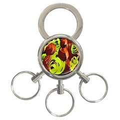 Neutral Abstract Picture Sweet Shit Confectioner 3 Ring Key Chains