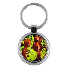 Neutral Abstract Picture Sweet Shit Confectioner Key Chains (round)