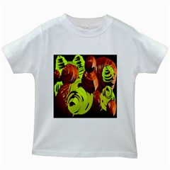 Neutral Abstract Picture Sweet Shit Confectioner Kids White T-Shirts