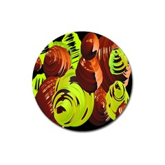 Neutral Abstract Picture Sweet Shit Confectioner Magnet 3  (Round)
