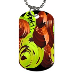 Neutral Abstract Picture Sweet Shit Confectioner Dog Tag (two Sides)