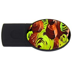 Neutral Abstract Picture Sweet Shit Confectioner USB Flash Drive Oval (1 GB)