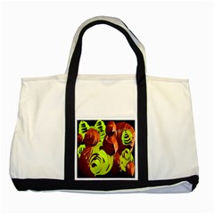 Neutral Abstract Picture Sweet Shit Confectioner Two Tone Tote Bag