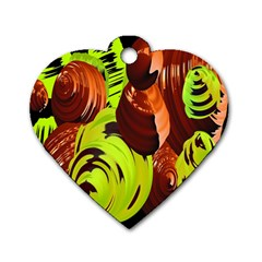 Neutral Abstract Picture Sweet Shit Confectioner Dog Tag Heart (One Side)