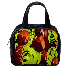 Neutral Abstract Picture Sweet Shit Confectioner Classic Handbags (One Side)