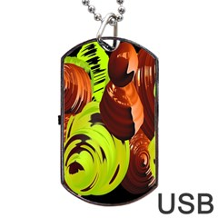 Neutral Abstract Picture Sweet Shit Confectioner Dog Tag USB Flash (Two Sides)