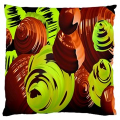 Neutral Abstract Picture Sweet Shit Confectioner Large Cushion Case (Two Sides)