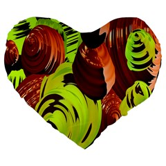 Neutral Abstract Picture Sweet Shit Confectioner Large 19  Premium Heart Shape Cushions