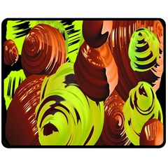 Neutral Abstract Picture Sweet Shit Confectioner Double Sided Fleece Blanket (Medium)