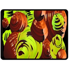 Neutral Abstract Picture Sweet Shit Confectioner Double Sided Fleece Blanket (Large)