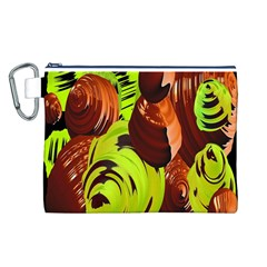 Neutral Abstract Picture Sweet Shit Confectioner Canvas Cosmetic Bag (L)