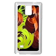 Neutral Abstract Picture Sweet Shit Confectioner Samsung Galaxy Note 4 Case (White)