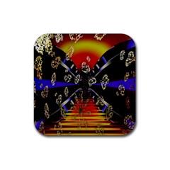 Diamond Manufacture Rubber Coaster (square)