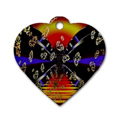 Diamond Manufacture Dog Tag Heart (One Side)