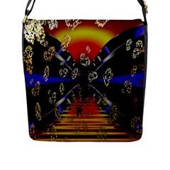Diamond Manufacture Flap Messenger Bag (l)