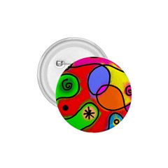 Digitally Painted Patchwork Shapes With Bold Colours 1 75  Buttons
