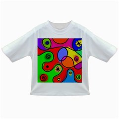 Digitally Painted Patchwork Shapes With Bold Colours Infant/Toddler T-Shirts