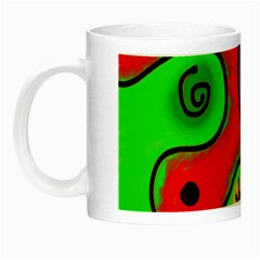 Digitally Painted Patchwork Shapes With Bold Colours Night Luminous Mugs