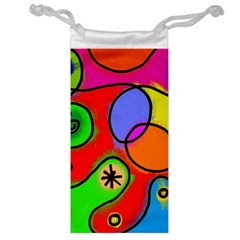 Digitally Painted Patchwork Shapes With Bold Colours Jewelry Bag