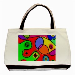 Digitally Painted Patchwork Shapes With Bold Colours Basic Tote Bag
