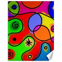 Digitally Painted Patchwork Shapes With Bold Colours Canvas 12  x 16