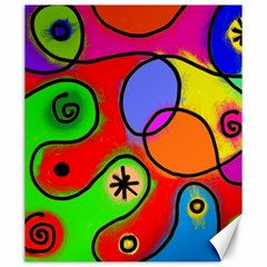 Digitally Painted Patchwork Shapes With Bold Colours Canvas 20  X 24