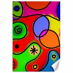 Digitally Painted Patchwork Shapes With Bold Colours Canvas 20  x 30