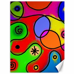 Digitally Painted Patchwork Shapes With Bold Colours Canvas 36  x 48