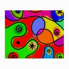 Digitally Painted Patchwork Shapes With Bold Colours Small Glasses Cloth (2 Side)