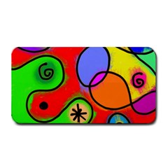 Digitally Painted Patchwork Shapes With Bold Colours Medium Bar Mats