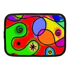 Digitally Painted Patchwork Shapes With Bold Colours Netbook Case (medium)