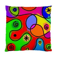 Digitally Painted Patchwork Shapes With Bold Colours Standard Cushion Case (two Sides)