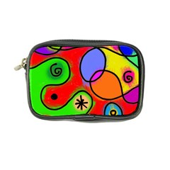 Digitally Painted Patchwork Shapes With Bold Colours Coin Purse