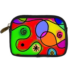 Digitally Painted Patchwork Shapes With Bold Colours Digital Camera Cases