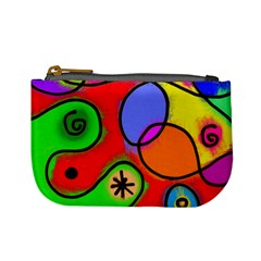 Digitally Painted Patchwork Shapes With Bold Colours Mini Coin Purses