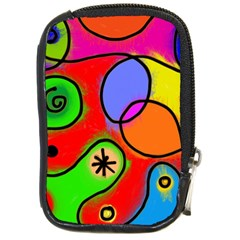 Digitally Painted Patchwork Shapes With Bold Colours Compact Camera Cases