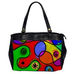 Digitally Painted Patchwork Shapes With Bold Colours Office Handbags