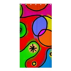 Digitally Painted Patchwork Shapes With Bold Colours Shower Curtain 36  x 72  (Stall)