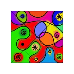 Digitally Painted Patchwork Shapes With Bold Colours Acrylic Tangram Puzzle (4  x 4 )