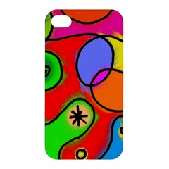 Digitally Painted Patchwork Shapes With Bold Colours Apple iPhone 4/4S Premium Hardshell Case