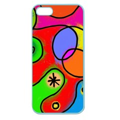 Digitally Painted Patchwork Shapes With Bold Colours Apple Seamless Iphone 5 Case (color)