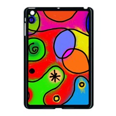 Digitally Painted Patchwork Shapes With Bold Colours Apple Ipad Mini Case (black)