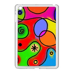 Digitally Painted Patchwork Shapes With Bold Colours Apple Ipad Mini Case (white)