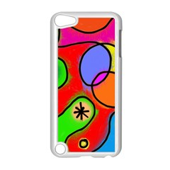 Digitally Painted Patchwork Shapes With Bold Colours Apple Ipod Touch 5 Case (white)