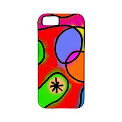 Digitally Painted Patchwork Shapes With Bold Colours Apple iPhone 5 Classic Hardshell Case (PC+Silicone)