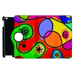Digitally Painted Patchwork Shapes With Bold Colours Apple Ipad 3/4 Flip 360 Case