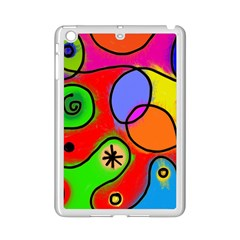 Digitally Painted Patchwork Shapes With Bold Colours Ipad Mini 2 Enamel Coated Cases